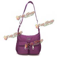 Женщины мульти- молнии карманы сумки дамы нейлон легкие мешки плеча непромокаемые мешки Crossbody