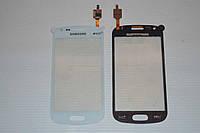 Оригинальный тачскрин / сенсор (сенсорное стекло) для Samsung Galaxy S Duos S7560 | S7562 (белый, самоклейка)