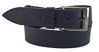 Стильный широкий джинсовый ремень с прочной кожи MASKO темно синего цвета