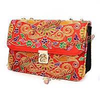 Женщины фолк-пользовательские вышитые цветок мешки плеча дамы цепи посыльного сумки
