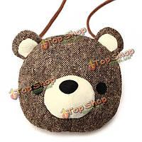 Милый медведь сумка на плечо монета кошелек небольшую сумку
