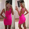 Женское яркое облегающее платье с открытой спинкой (3 цвета)