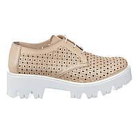 Туфли женские кожаные Paloma 669 беж., фото 1