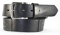 Стильный широкий джинсовый ремень с прочной кожи MASKO MADOC