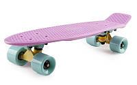 """Пенни борд (Penny board pastel) Fish 22"""" - Лиловый с мятными колесами"""