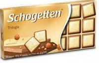 Молочно-белый шоколад Schogеtten «Trilogies» (с орехом) 100г., фото 1
