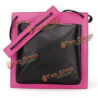 Женская мода цвет блоков пэчворк сумка креста тела сумка