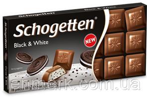 Черно-белый  шоколад Schogetten  «Black and White Chocolate» (с печеньем «OREO») 100 г