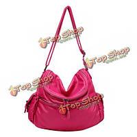Женщины мягкие кожаные мешки плеча дамы элегантные сумки Crossbody сумки посыльного