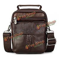 Натуральной кожи 3 способа утилита сумка ретро 5 карманов емкость мессенджер многофункциональная сумка