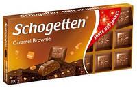 Молочный шоколад Schogetten  «Caramel-brownie» ( со вкусом домашней карамели) 100 г, фото 1
