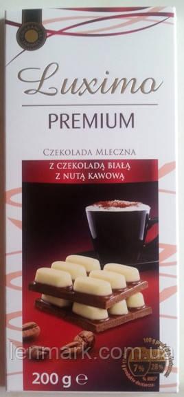 Молочный шоколад LUXIMA Premium «Caffee» (молочно-кофейный), 200 г