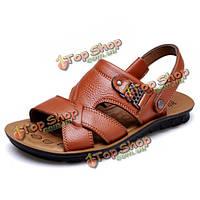 США размер 6.5-10.5 мужчин случайные плоские сандалии Бич массаж удобные мягкие тапочки туфли