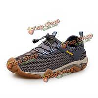 Открытый мужской спортивной обуви дышащая эластичный скольжения на кроссовки