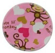 Лактационные многоразовые вкладыши для кормящих мам   обезьянки в розовом