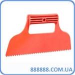 Шпатель пластиковый 230 мм зубчатый KT-2811 Intertool