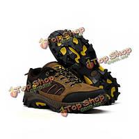 Мужская обувь альпинистские зашнуровать обувь для ходьбы на открытом воздухе дышащие спортивную обувь