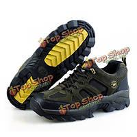 Мужчины на открытом воздухе дышащие спортивная обувь зашнуровать обувь для ходьбы обувь для альпинизма