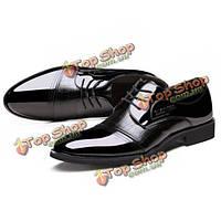 Мужчины зашнуровать искусственная кожа формальная обувь мягкой подошве бизнес обувь