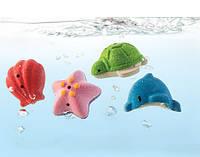"""Деревянная игрушка """"Набор морских животных для ванной"""", PlanToys"""