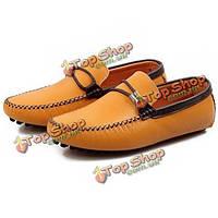 Британский стиль мужской кожаная обувь лоферы оксфорды мокасины лодку вождения