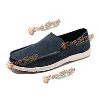 Досуг мужские плоские туфли скользят по прогулочной обуви мягкой подошве кроссовки