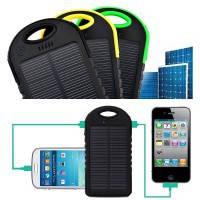 Портативное зарядное устройство Power Bank с солнечной батареей (5000mAh)