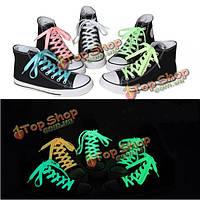 142см мужчины женщины люминесцентные шнурки забавные светящиеся нити шнурков ботинок