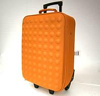 Дорожный чемодан на колесах средний оранжевого цвета Доставка по Киеву и Украине