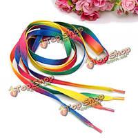 Мужские шнурки Радуга Multi-цветы плоские шнурки