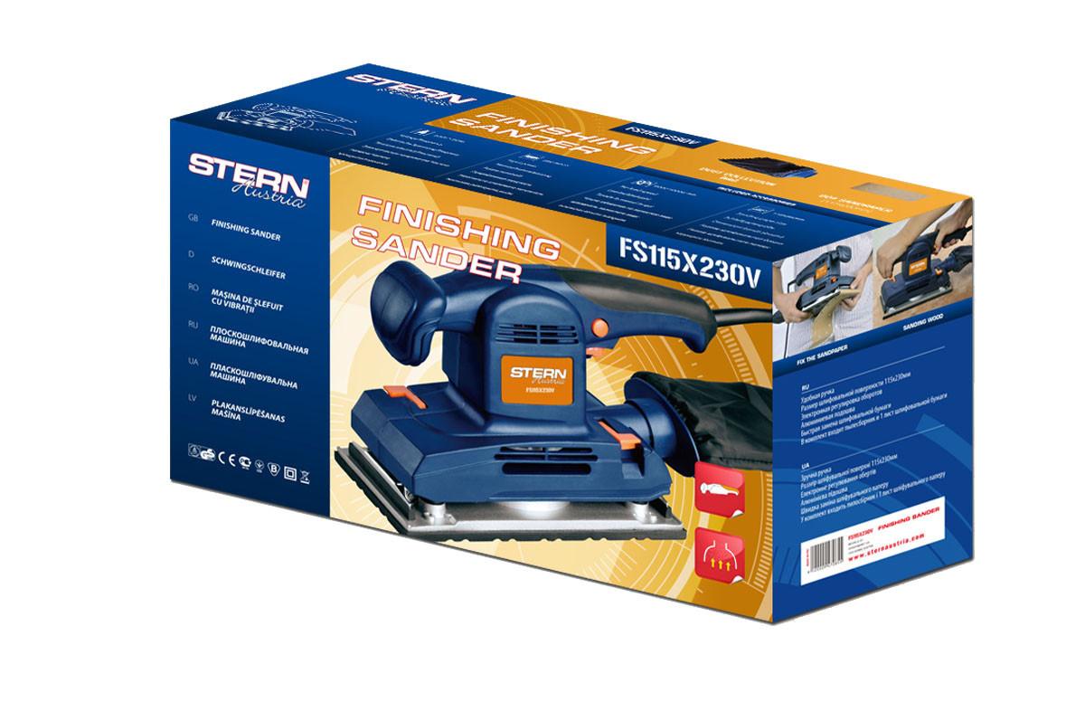 Вибрационная шлифмашина Stern FS-115-230