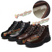 Новые люди зимние теплые плюшевые держать хлопок причинной кожаные удобные ботинки обувь бизнес