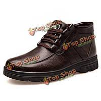 Новые люди зима плюшевые хлопка сохранить теплые открытый бизнес комфортабельные шнурках ботинки обувь