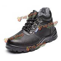 Большой размер новые люди зима плюшевых теплые высокие верхние вскользь альпинистские защитные спортивные военные ботинки сапоги