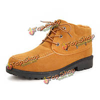 NEW Mens Fashion Comfortable Thicking Keep Warm Cotton Suede Snow Boots Casual Shoes