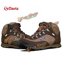 Clort Men Climbing Leather Waterproof Breathable Outdoor Shoes