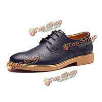 Новые люди Англии стиль повседневная обувь кожаная резьба