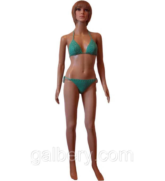 Женский купальник с ажурным лифом
