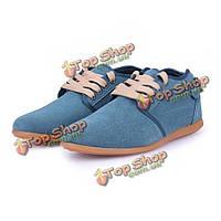 Мужской досуг сплошной цвет обувь британец кожи типа кроссовок