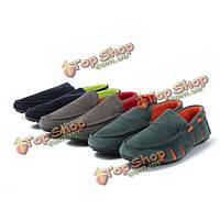 Мужские повседневные кроссовки из искусственной замши скольжения на бездельник вождения обувь