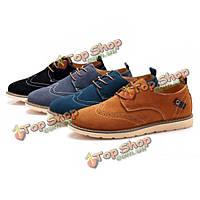 Большого размера моды для мужчин акцентом обувь круглый носок формальные обувь повседневная обувь замша
