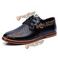 Большие мужчины размер повседневная обувь удобная дышащая шнуровке резиновые пу обувь