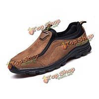 Мужчины оксфорды скольжения на круглый носок обуви мягкие удобные вскользь формальный бизнес Oxfords обуви