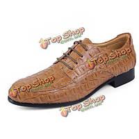 Мы размер 6.5-12 большого размера мужчины зашнуровать кожаные полуботинки заостренный носок формальная обувь