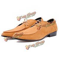 Мужские деловые повседневная обувь вождения кожаные тапки