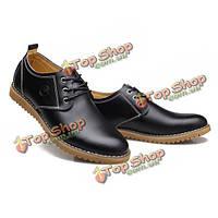 Большой размер новые осенние мужчины случайные плоские туфли кожаные дышащие