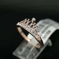 """Позолоченное женское кольцо корона """"Королева Мирабелла"""" позолота"""