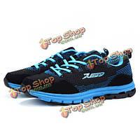 Delocrd людей бежать спорта портативный мягкая нескользящая сетка обувь