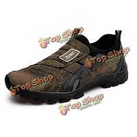 Мужчины спортивной обуви случайные удобные замшевые низкой верхней скольжения на открытом воздухе работает спортивная обувь