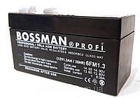 Аккумулятор Bossman Profi 12V 1.2 Ah.Аккумуляторы свинцово-кислотные.Аккумуляторные батареи Bossman.